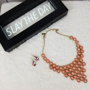INC Pink Statement Necklace w/ Earrings!